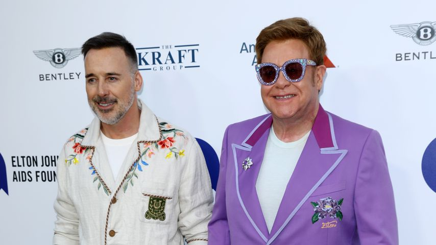David Furnish und Elton John 2019 in Cannes