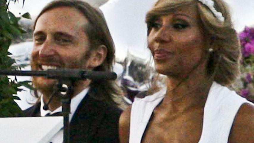 So schön sieht David Guettas Frau als Braut aus!
