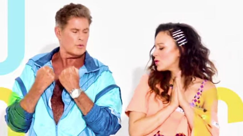 Verrückt & bunt: David Hasselhoff & Blümchens Musik-Video