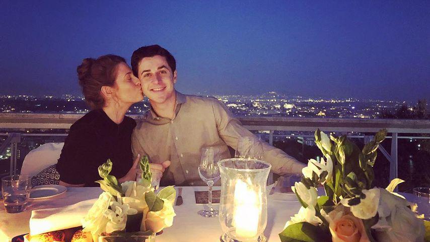 David Henrie mit seiner Frau Maria