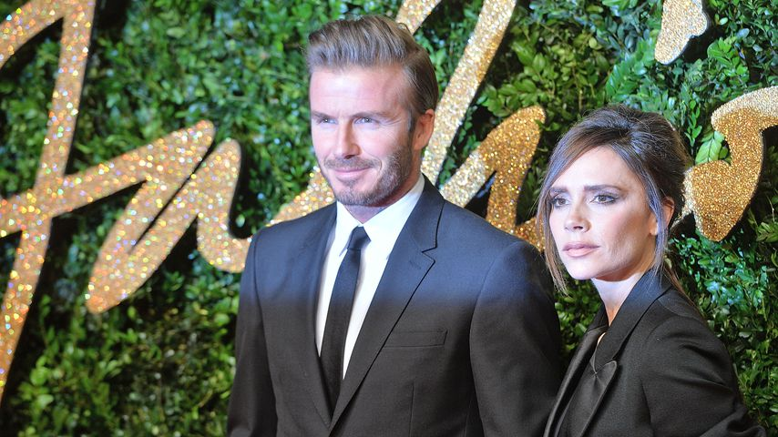 "David Beckham und Victoria Beckham bei den ""British Fashion Awards"" 2015"