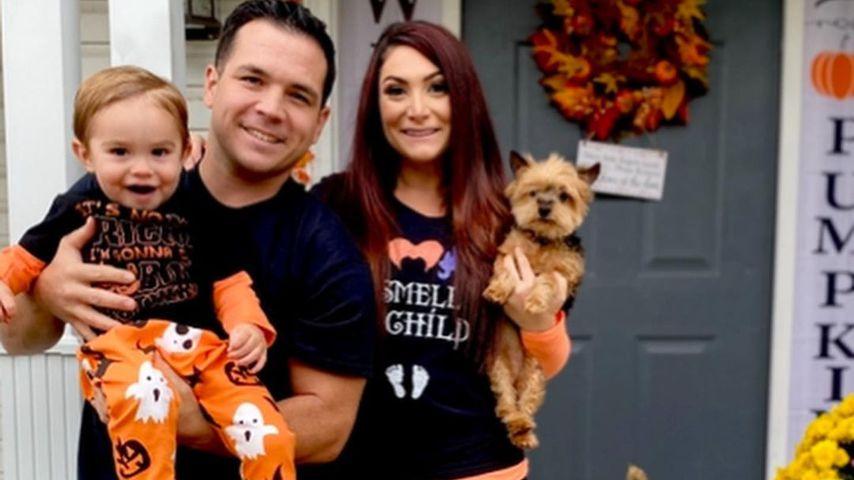 Deena Nicole Cortese mit ihrem Mann und ihrem Sohn
