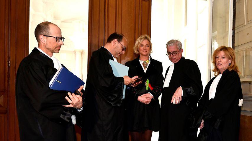 Delphine Boël, vermeintlich uneheliches Kind von Belgiens Ex-König Albert II., mit Anwälten