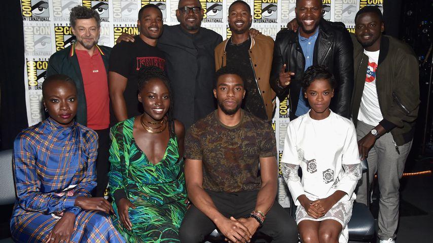 """Der """"Black Panther""""-Cast auf der Comic-Con in San Diego im Juli 2017"""