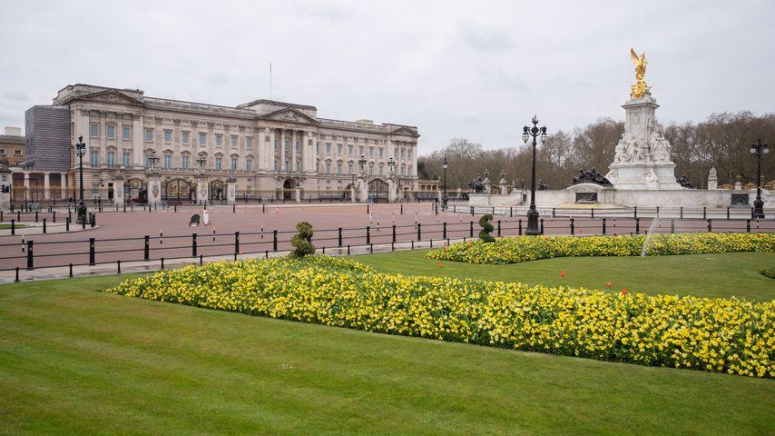 Der Buckingham Palast im April 2020