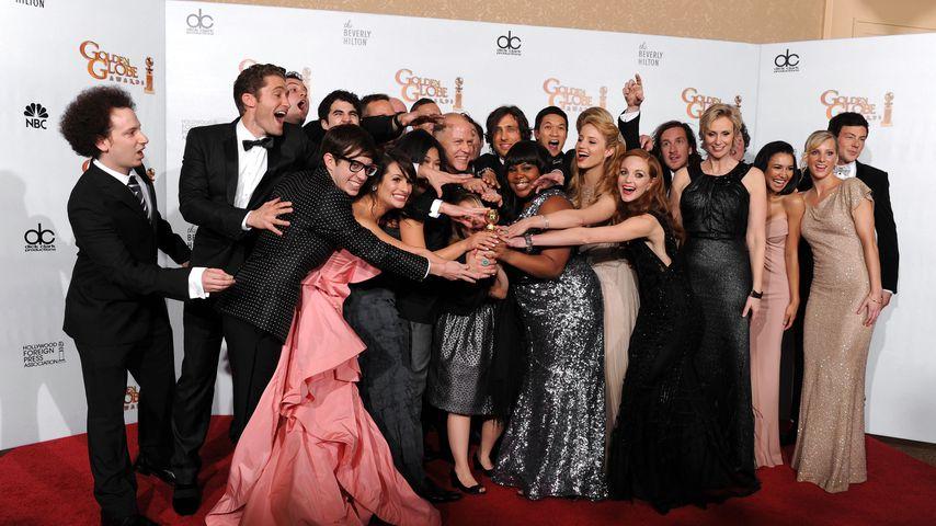 """Der Cast von """"Glee"""" bei den Golden Globes 2011"""