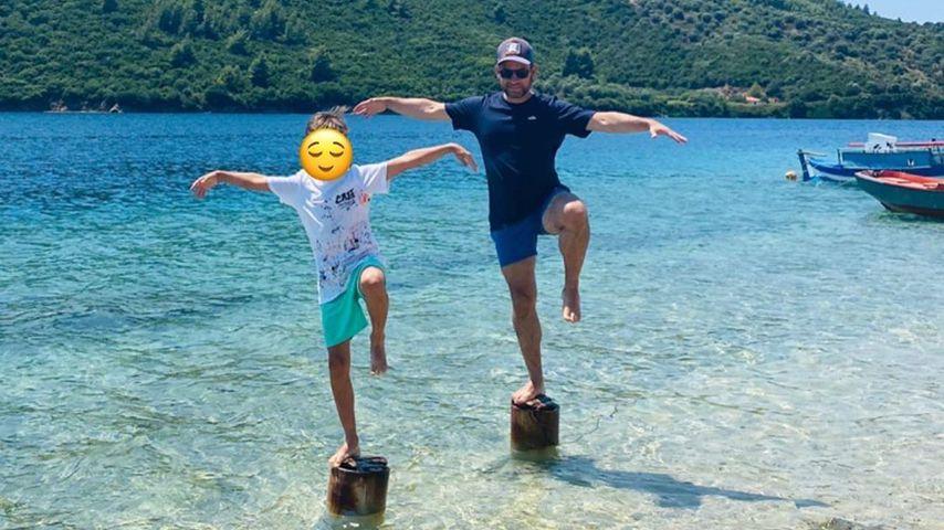 Susan Sideropoulos' Sohn und ihr Mann Jakob Shtizberg