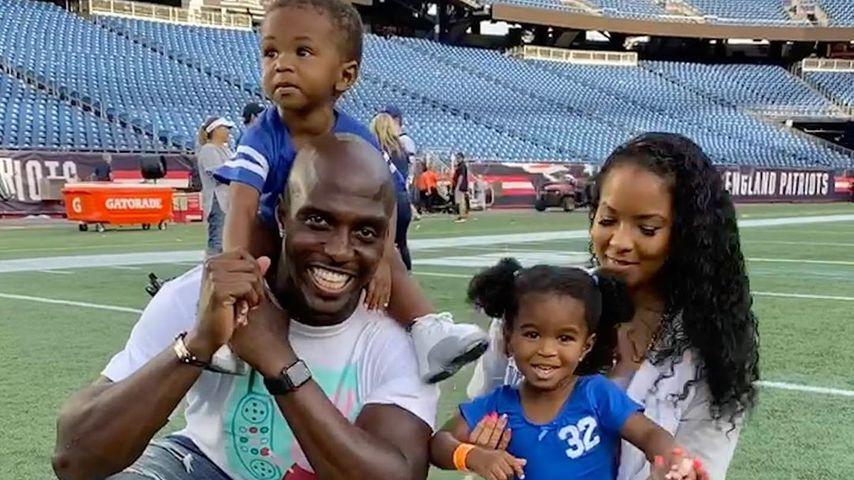 Devin McCourty mit seiner Frau Michelle und ihren Kindern