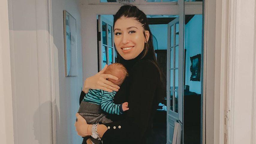 Diana June und ihr Sohn