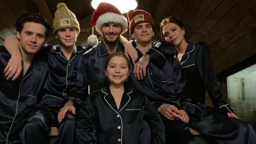Die Beckhams an Weihnachten 2020