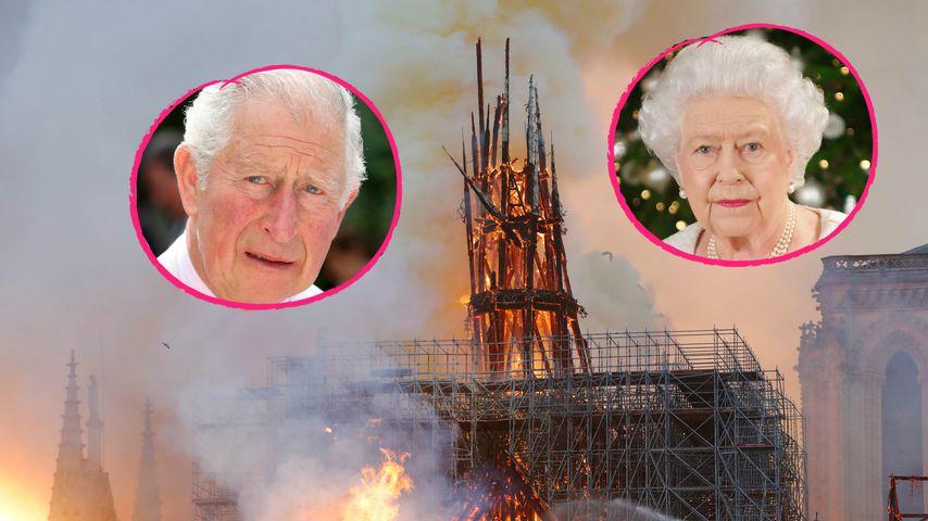 Brand von Notre-Dame: Die Queen & Co. sprechen Beileid aus