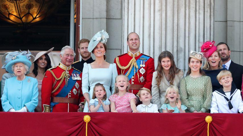 Die britische Königsfamilie im Juni 2018