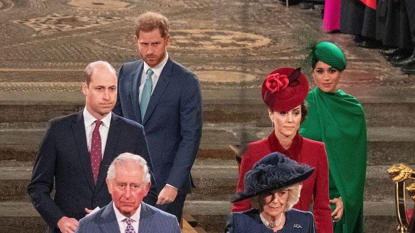 Die britischen Royals nach dem Commonwealth-Day-Gottesdienst in Westminster Abbey