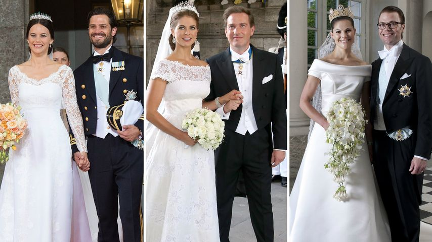 Traumhaft: Die schönsten Brautkleider der Schweden-Royals