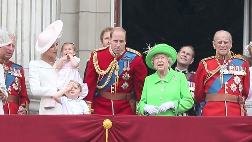 """Die Royals beim """"Trooping Of The Colour 2016"""" zu Ehren von Queen Elizabeths 90. Geburtstag"""