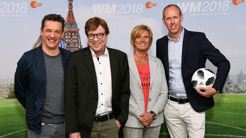 WM-Kommentatoren Oliver Schmidt, Béla Réthy, Claudia Neumann, Martin Schneider (v.l.)