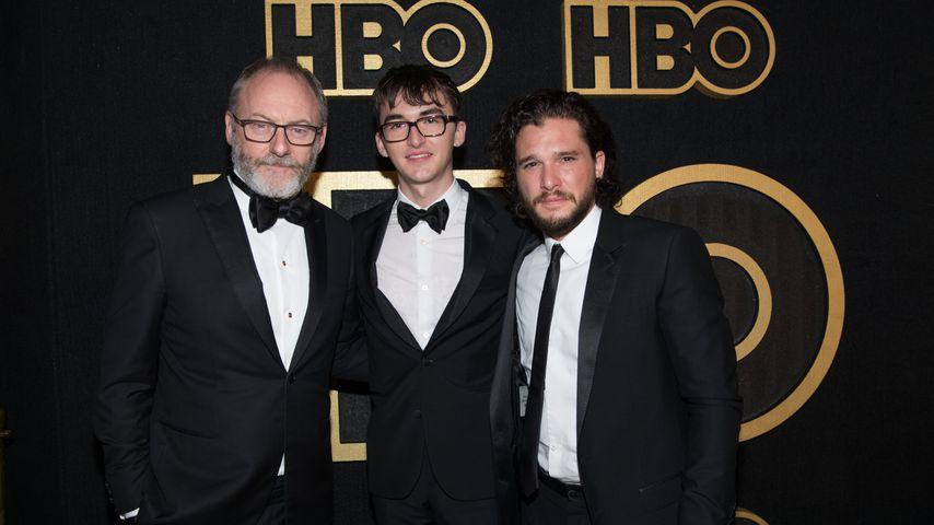 """Die """"Game of Thrones""""-Stars Liam Cunningham, Isaac Hempstead-Wright und Kit Harington"""