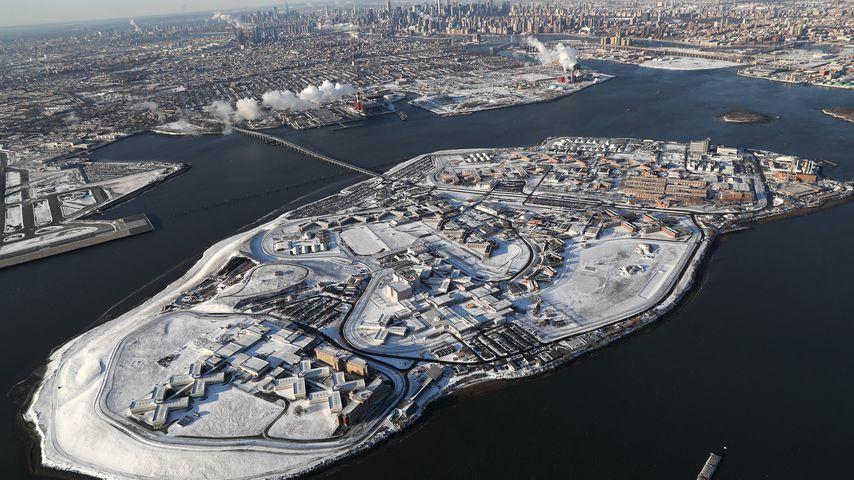 Die Gefängnisinsel Rikers Island in New York
