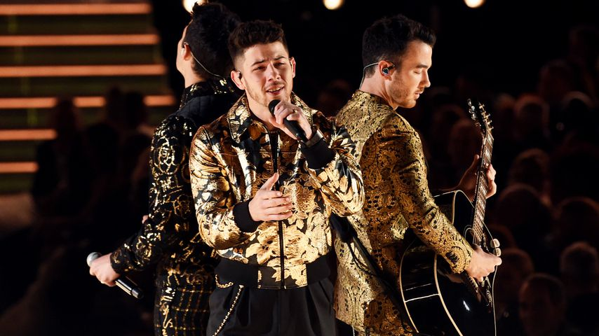 Die Jonas Brother bei den Grammys in LA im Januar 2020