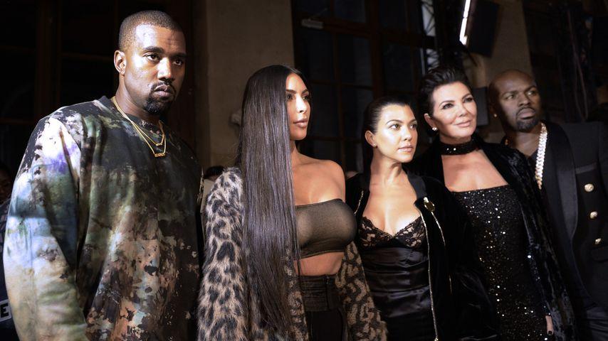 Kanye West, Kim Kardashian, Kourtney Kardashian, Kris Jenner und Corey Gamble, 2016