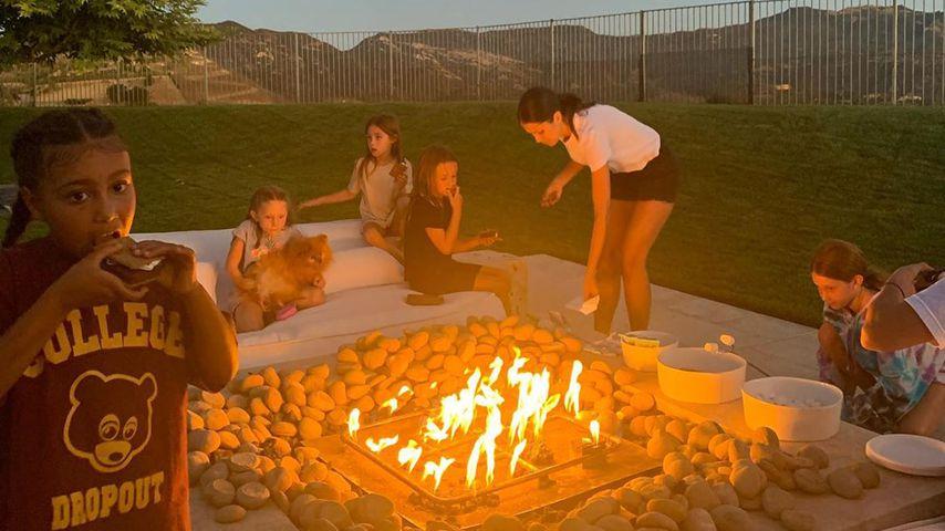 Die Kardashian-Kids beim Campen im August 2020