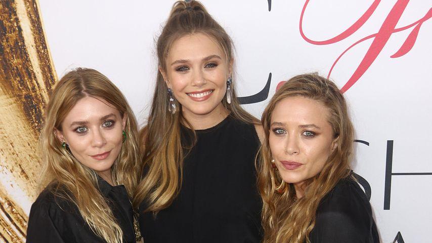 Die Olsen Twins und ihre Schwester Elizabeth Olsen (Mitte) bei den CFDA Fashion Awards 2016