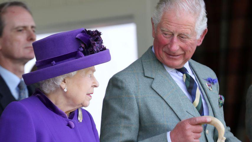 Queen Elizabeth II. und Prinz Charles bei den Braemer Games, 2019