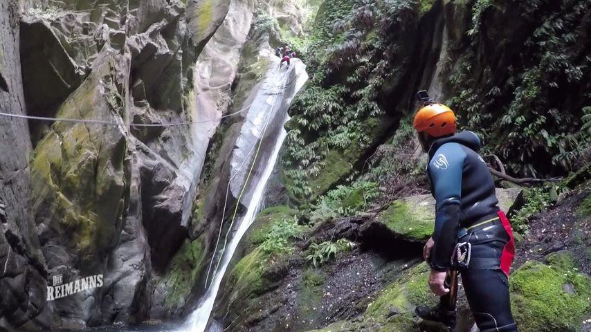 Die Reimanns beim Canyoning in Neuseeland