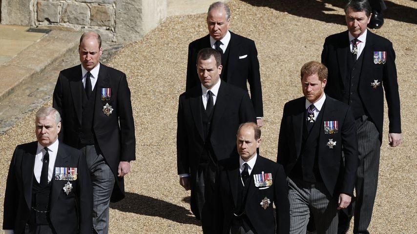 Die Trauergäste auf Prinz Philips Beerdigung