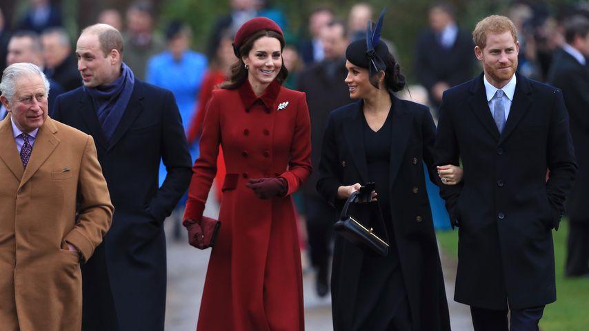 Die Royals beim Kirchgang an Weihnachten 2018
