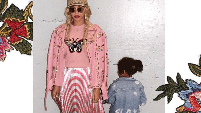 Die Sängerin und ihre kleine Tochter Blue Ivy im Partnerlook