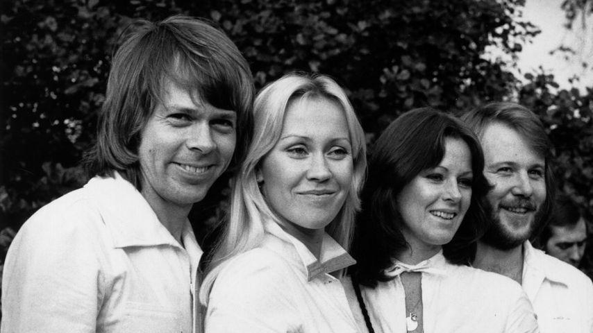 Die schwedische Band ABBA in London, 1976