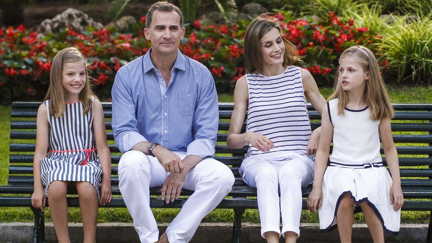 Spanische Königsfamilie: Prinzessin Sofía, König Felipe, Königin Letizia & Prinzessin Leonor (v.l.)