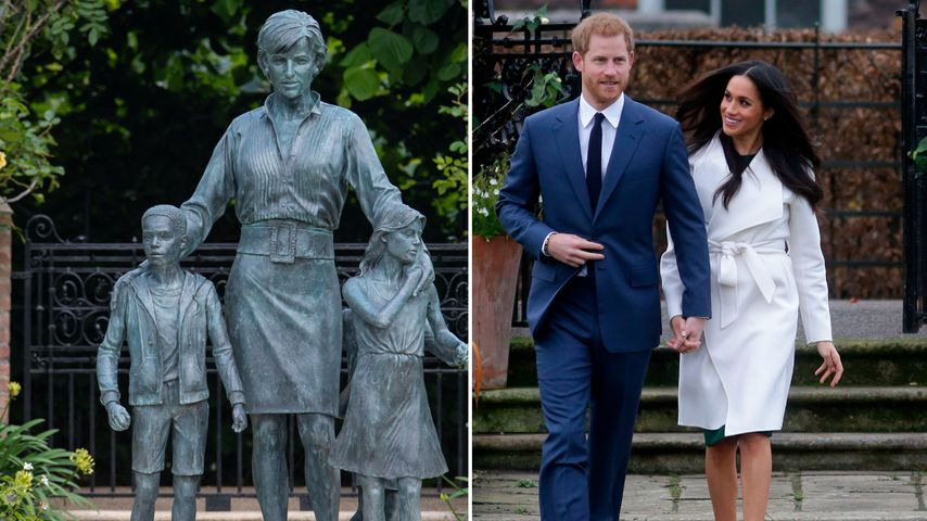 Diana-Figur im selben Garten wie Meghan und Harrys Verlobung