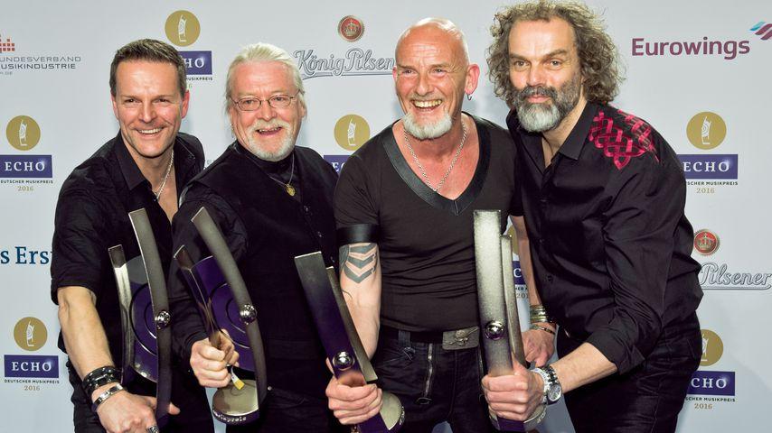 Die vier Bandmitglieder von Santiano beim Echo 2016