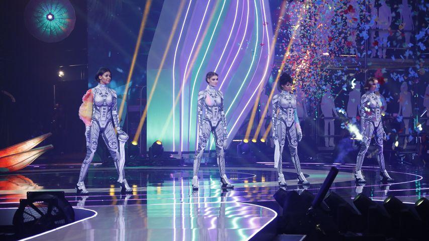 "Die ""Germany's next Topmodel""-Finalistinnen Lijana, Sarah, Maureen und Jacky"