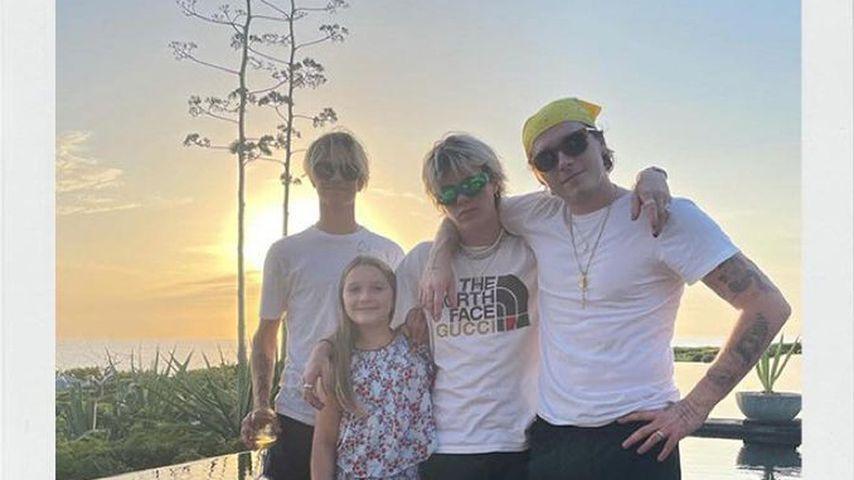 Die vier Kids von Victoria und David Beckham im Frühjahr 2021