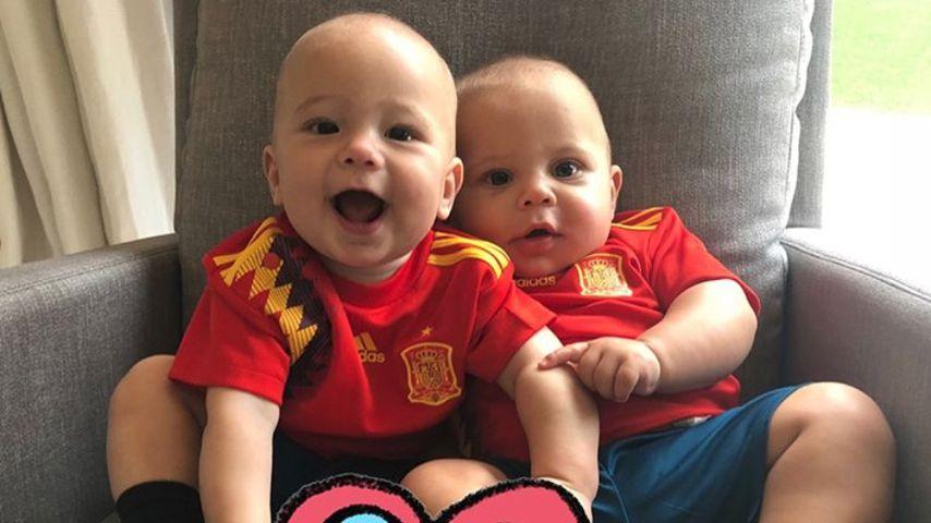 Zwillings-Babys von Enrique Iglesias und Anna Kournikova