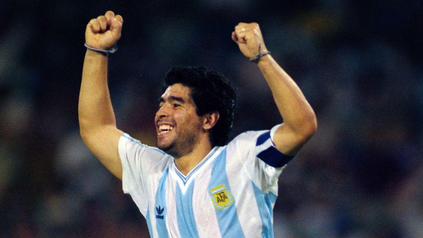 Diego Maradona beim Fifa World Cup in Neapel, Italien