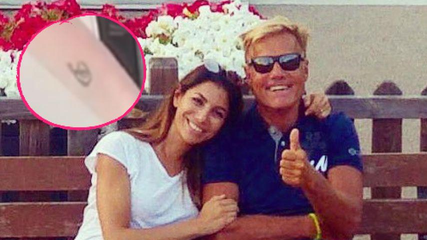 Dieters Freundin Carina: Endlich zeigt sie ihr Liebes-Tattoo