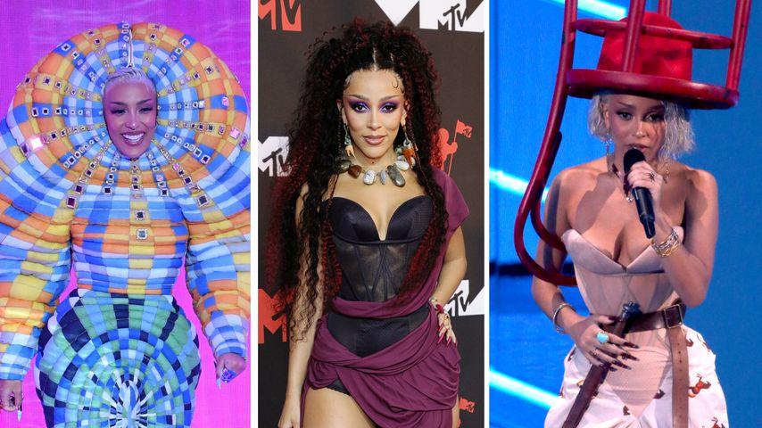 Verrückte Outfits: Doja Cat verblüffte bei den MTV VMAs
