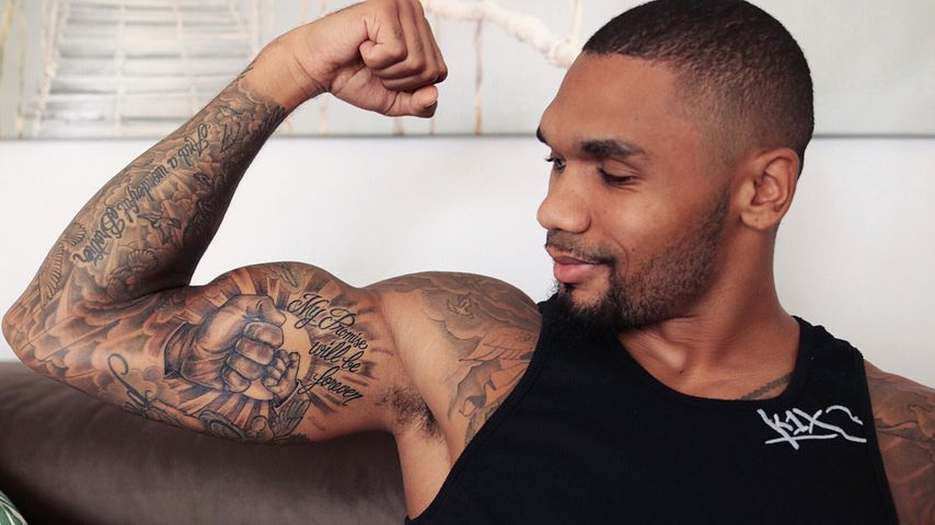 Dominic Harrison und sein Tattoo für seine Tochter Mia Rose