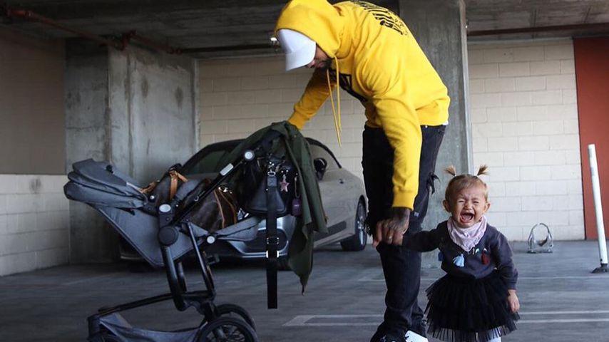 Dominic Harrison und seine Tochter Mia Rose