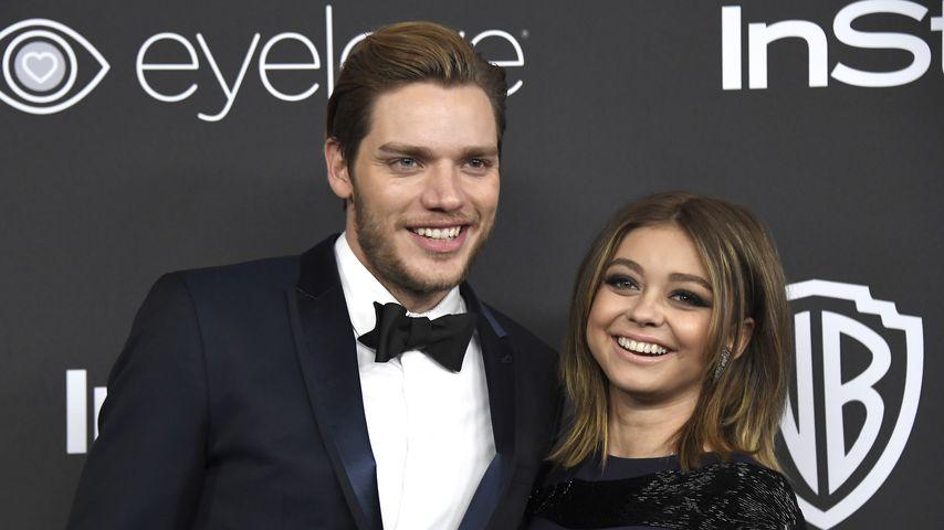Dominic Sherwood und Sarah Hyland bei der Golden Globes Party 2017