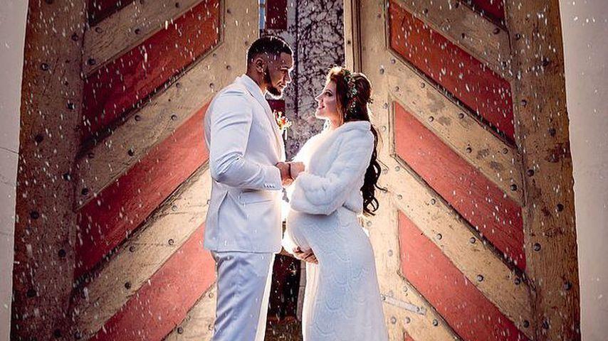Dominic und Sarah Harrison bei ihrer Hochzeit, 2017