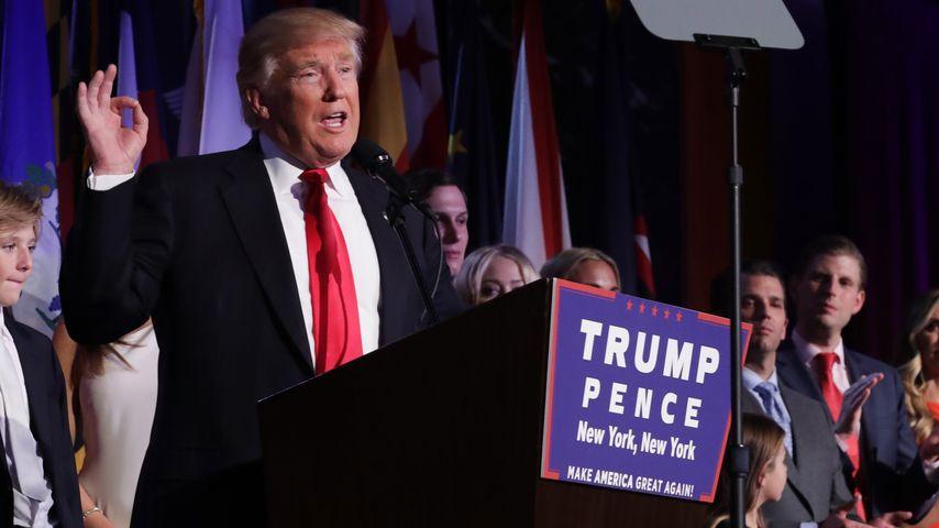 Donald Trump, US-Präsident bei seiner Siegesrede am 8. November 2016