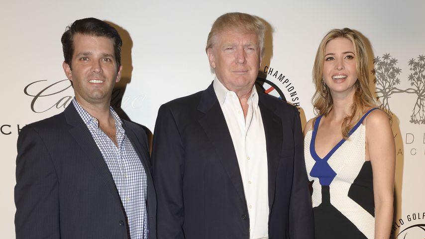 Donald Trump und seine Kinder Ivanka und Donald Jr.