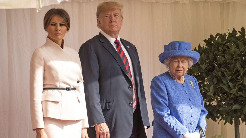 Melania Trump, Donald Trump und Queen Elizabeth II.
