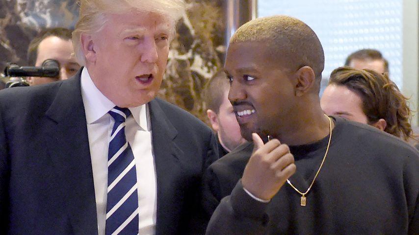 Donald Trump und Kanye West im NYC im Dezember 2016