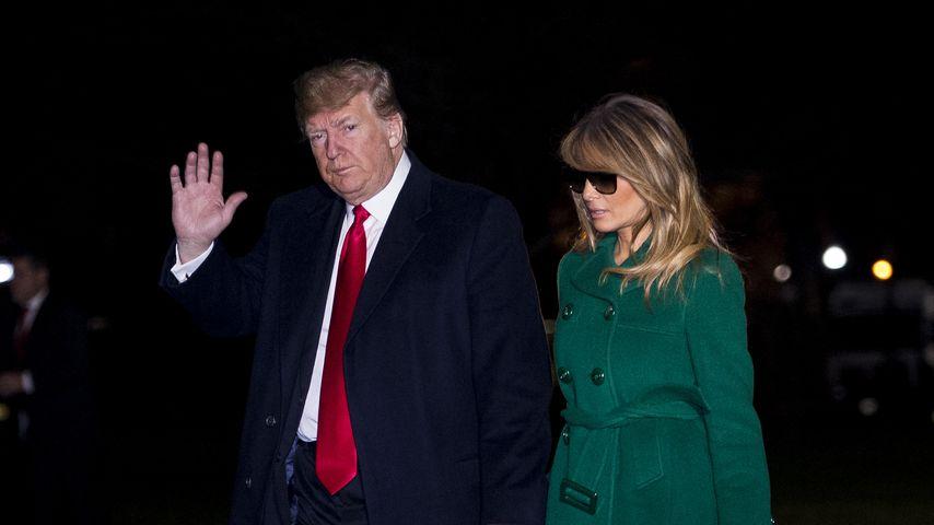 Donald und Melania Trump bei ihrer Rückkehr ins Weiße Haus